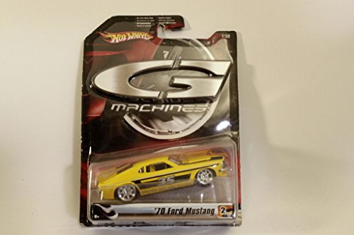Hot wheels G Machines 1970 Ford Mustang Yellow 1:50 Hot Wheels G Machines