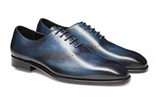 Gifennse Heren Veter Oxford-jurk Klassieke Schoenen Blauw-5