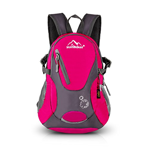 Sunhiker Cycling Hiking Backpack Water Resistant Travel Backpack Lightweight Small Daypack M0714 (Hot Pink)