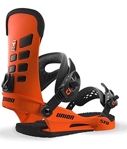 Force Snowboard Binding - Union STR Snowboard Bindings Orange Large US Men's 10+