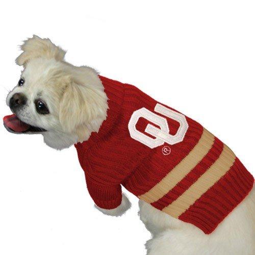 Oklahoma Sooners Crimson Pet Sweater (Medium)