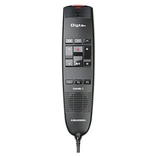 Grundig PDD8200 Digta SonicMic 3 Classic USB Dictation Microphone with Ergonomic Design, Iindividually Configurable Function Buttons and DigtaSoft One Software
