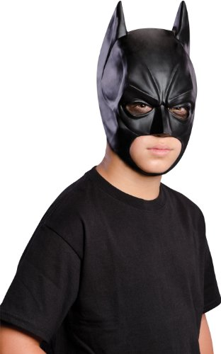 Batman: The Dark Knight Rises: Batman 3/4 Mask, Child Size (Black) (Batman Black Knight Rises)