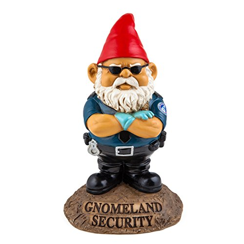 bigmouth inc gnomeland security garden gnome - Funny Garden Gnomes