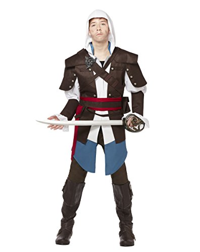 Spirit Halloween Teen Edward Kenway Costume - Assassins Creed,Brown,L -