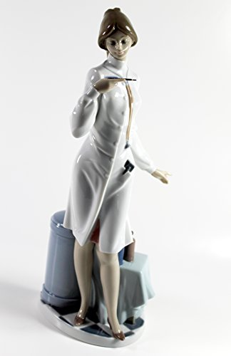 Lladro ''Female Physician'' Collectible Figurine #05197 Retired Glazed Finish by Lladro