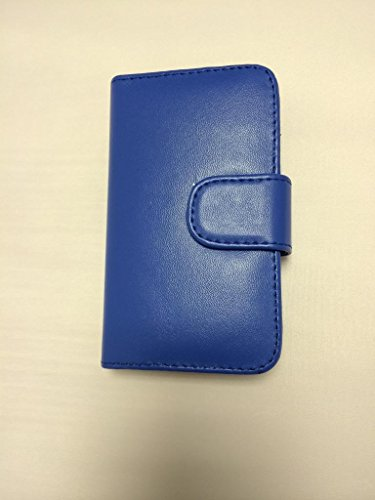 Buona qualità Wallet per iPhone 4 4S blu con due fessure per carta PU Leather Case Cover per Apple iPhone 4 4S