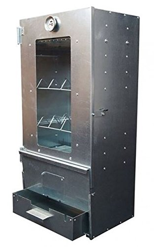 Horno para ahumar XL 80 x 39 x 27, 5 cm 3 pisos de chapa de acero ...