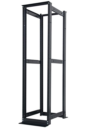 45U 4 Post Open Frame Server Data Rack 19'' Adjustable Depth 25''-37'' Aluminum by Raising Electronics