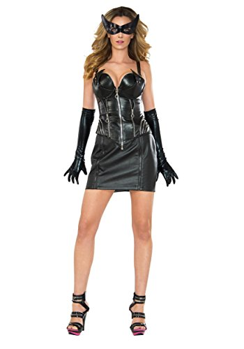 DC Comics Catwoman Deluxe Costume, Black, Small]()