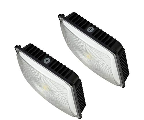 CYLED 120W LED Canopy Light Industrial Waterproof Explosion-proof Outdoor High Bay Balcony Car Park Lane Gas Station Ceiling Light Equivalent 550W HID/HPS 16000 Lm 5500K DLC qualified Pack Of 2