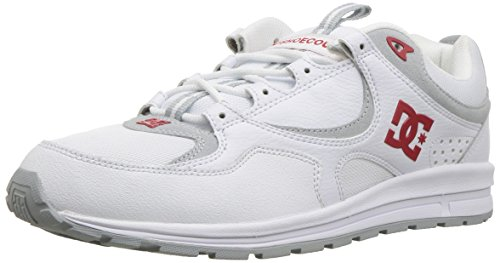 DC Men's Kalis Lite Skate Shoe, White/red, 10 D D US