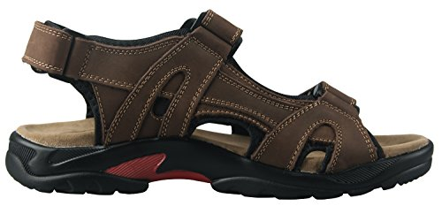 Outdoor Leather and iLoveSIA Athletic Brown Mens Sandals Shoes AqxwXF
