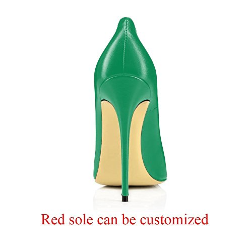 Court Toe Stilettos Green Shoes 3 Dress On Caitlin Pan Size 11 Slip UK B0tt0m Basic Pumps Formal Pointed Womens High Shoes Sexy Red Matte Heel 0aAqPIw