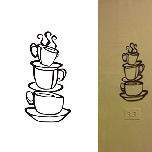 LSD Removable DIY House Hotel Restaurant Kitchen Decor Coffee Cup Mug Design Decals Vinyl Wall Sticker NEW