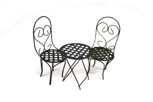 Fairy Gardening Black Bistro Set