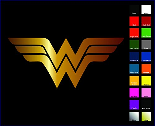 "DC+Comics Products : Wonder Woman Sticker / Vinyl Decal - Gold 4"" - Justice League, DC Comics"