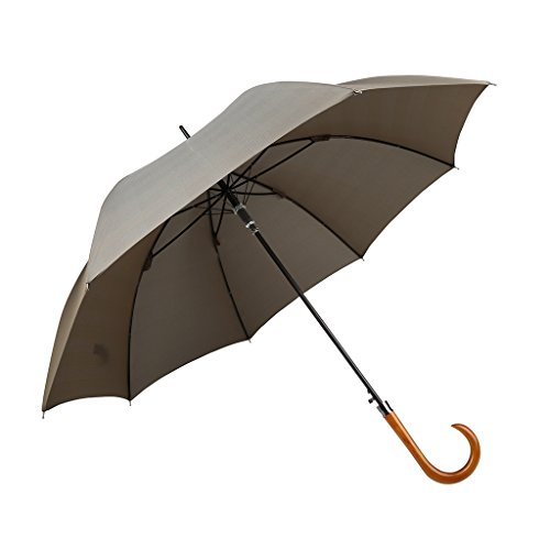 Over The Garden Wall Art Costume (Cane Stick Umbrella Automatic Open Windproof Lightweight Compact Mini Wood Handle Classic-Style)