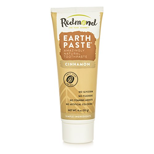 Redmond Earthpaste – Natural Non-Flouride Toothpaste, Cinnamon, 4 Ounce Tube (1 Pack)