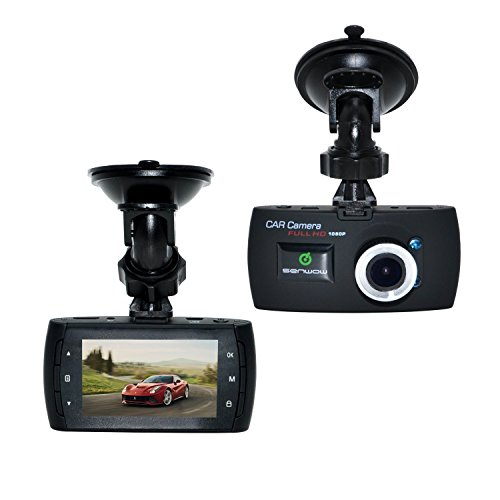 SENWOW Full 1080P Car DVR HD Black Box Video Camera Recorder Camcorder Traffic Dashboard Dash Cam,120 Degree Wide Angle View,Night Vision and Motion Detection / G-Sensor, Come with 8GB TF Memory Card