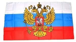 FahnenMax–Bandera de Rusia escudo 90x 60cm