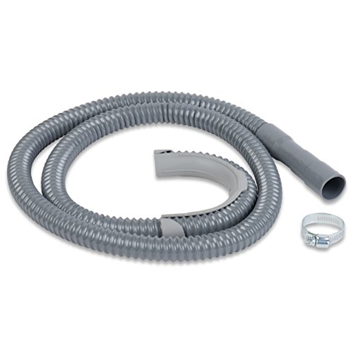 KELLIBU WASHING MACHINE DRAIN HOSE | 6FT CORRUGATED UNIVERSAL FIT DISCHARGE HOSE WITH CLAMP | EASY INSTALLATION