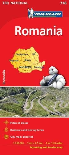 Romania - Michelin National Map 738 (Michelin National Maps) Map – 2001 Howard Hughes Michelin Editions des Voyages 2067172131