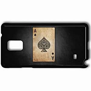 Personalized Samsung Note 4 Cell phone Case/Cover Skin Ace Black