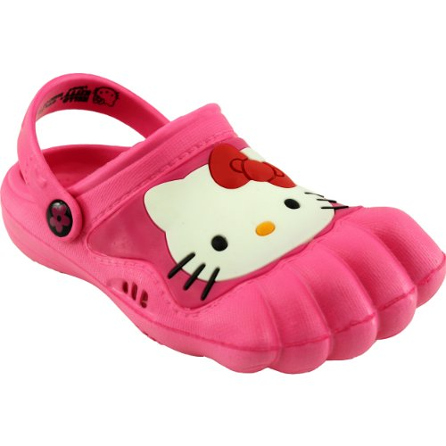 Kids Silly Rubber - Hello Kitty Kids Pink Silly Feet Clogs 01071 (2/3 M US Little Kid)