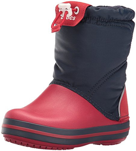 crocs Crocband LodgePoint Boot, Unisex-Kinder Kurzschaft Schlupfstiefel, Blau (Navy/Red 485), 30/31 EU (C13 Mädchen UK)