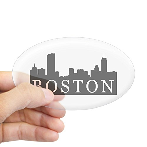 CafePress - Boston Skyline Oval Sticker - Oval Bumper Sticker, Euro Oval Car - Where Is Downtown Boston