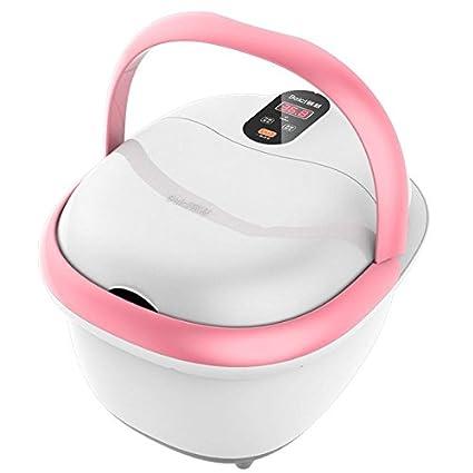 AMYMGLL Pink baño de pies Spa Con calentador de agua (Cuatro no automáticas de masaje