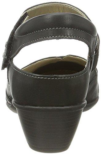 01 D5002 Remonte Femme Escarpins schwarz Noir graphit n1wpxYqdOw