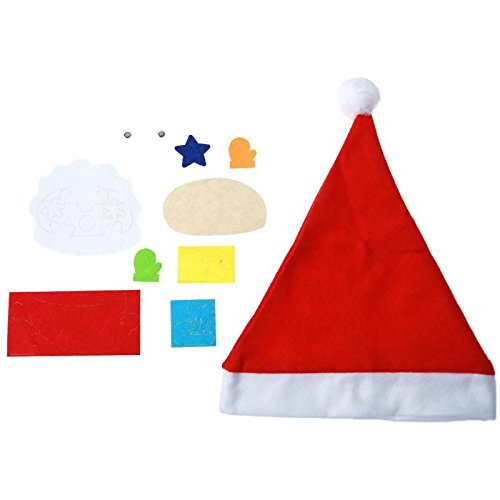 GreenSun TM Baby Kids Educational Hat Craft Kit Handmade DIY Christmas Hats Puzzle Toy Christmas Santa Hat Red Hats