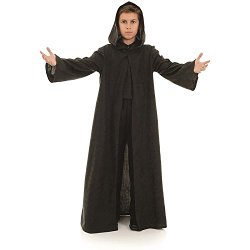 Underwraps Big Boy's Underwraps Children's Cloak Costume Accessory, Black, Large Childrens Costume, black, Large - Diy Medieval Costumes