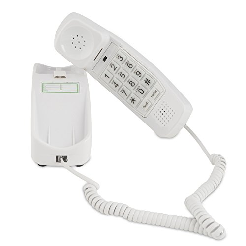 Style Corded Telephone - Trimline Corded Phone - Phones For Seniors - Phone for hearing impaired - Choctaw White - Retro Novelty Telephone - An Improved Version of the Princess Phones in 1965 - Style Big Button