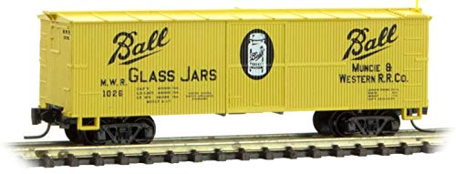 Micro-Trains MTL Z-Scale 40' Wood Reefer Car Ball Glass (Yellow/Black) #1026