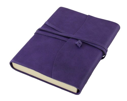 Amalfi Aubergine Leather Journal - 13 x 17 cm