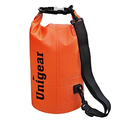 Dry Bag Sack, Waterproof Floating Dry Gear Bags for Boating, Kayaking, Fishing, Rafting, Swimming, Camping and Snowboarding (Orange, 5L)