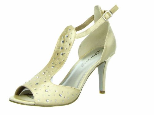 Tamaris - Sandalias de vestir para mujer beige beige 36