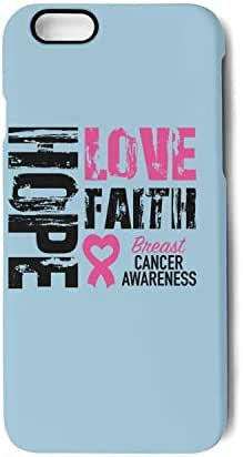 2019 Hope Faith Love Breast Cancer Awareness Protection Cover Phone Case for Apple iPhone 7 Plus/iPhone 8 Plus