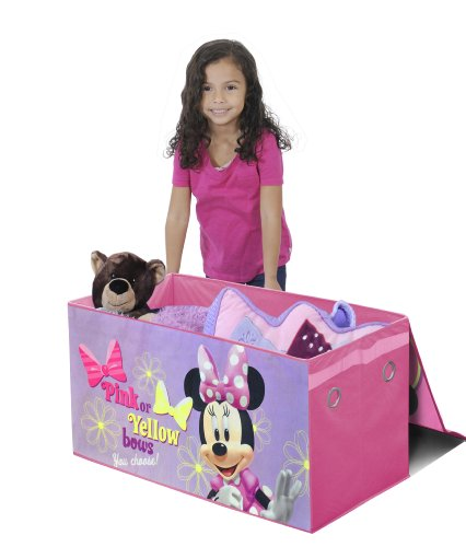 Disney Collapsible Storage Trunk Toy Box Organizer Chest: Disney Minnie Mouse Collapsible Storage Trunk