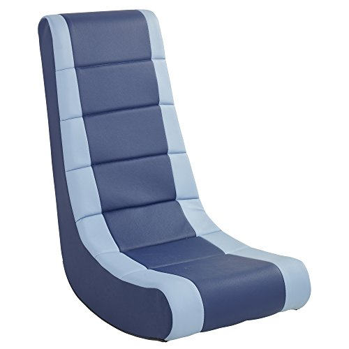 ECR4Kids SoftZone Kids Gaming Rocker – Soft Foam Chair for Movies, Reading or TV – Blue and Powder Blue