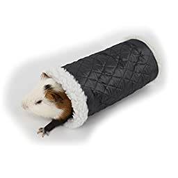 MYIDEA Small pet litter hamster hedgehog warm sleeping bags Small pet single pipe channel toys (Red)