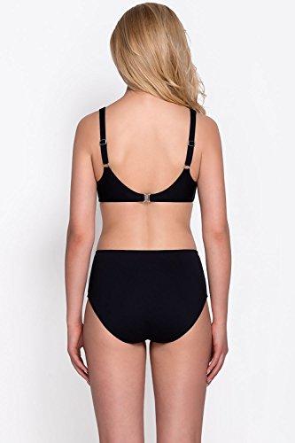 Vivisence 3204 Top De Bikini Blando Con Circonias Para Mujeres Tirantes Ajustables No Extraíbles Con Aros - Hecho En La UE negro