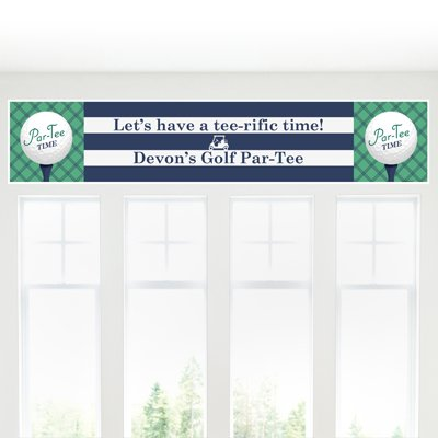 Big Dot of Happiness Custom Par-Tee Time - Golf Personalized Birthday or Retirement Party Decorations Party Banner ()
