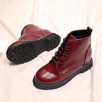 Shukun Botines Botas Martin Boots de otoño e Invierno para alumnas Botas de Personalidad para Mujeres