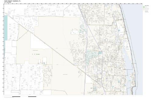 Palm Beach Gardens Zip Code Map.Amazon Com Zip Code Wall Map Of Palm Beach Gardens Fl Zip Code Map