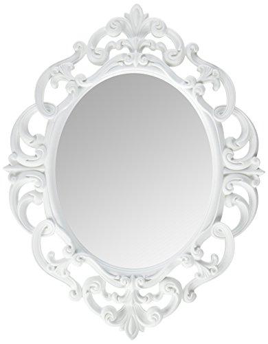 gray wall mirror contemporary bathroom wall kole white oval vintage wall mirror amazoncom mirror home kitchen