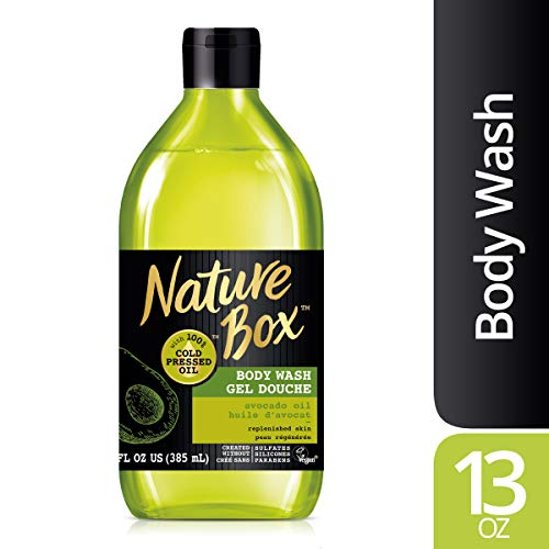 Nature Box Body Wash - for Replenished Skin, with 100% Cold Pressed Avocado Oil, 13 ()